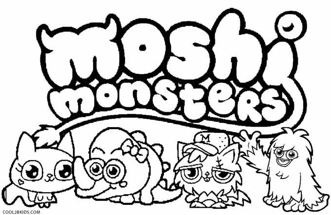 Moshi Monsters Colouring Pages Of Moshlings To Print Monster