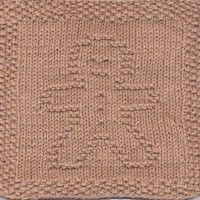 Gingerbread Man Knit Dishcloth Pattern