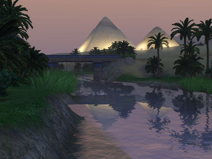 The Great Pyramid in Egypt Nile River   the nile river and the great pyramids