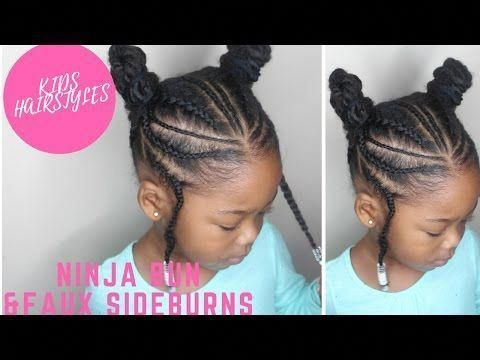 KIDS NATURAL HAIRSTYLES: THE PLAITED UP DO(Back to School)  YouTube #kidshairsty…