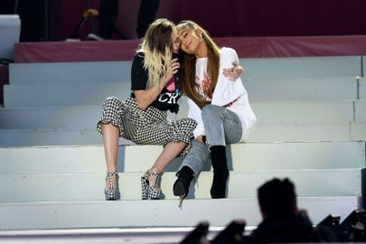 Miley Cyrus | Friendship Goals | Ariana Grande One Love Manchester Concert Pictures Gallery | British Vogue