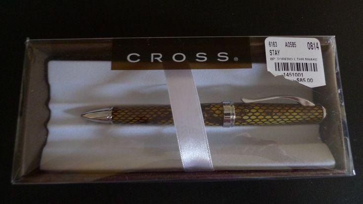 Cross Pen Ball Point Leather cover Snake Print in gift box #Cross $30