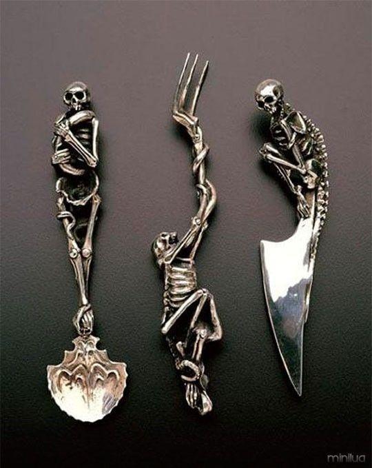 Skeleton Themed Utensils#funny #lol #lolzonline