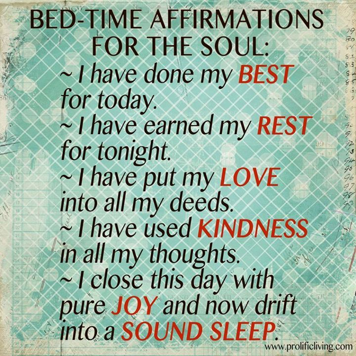 Bedtime #Affirmations for the Soul