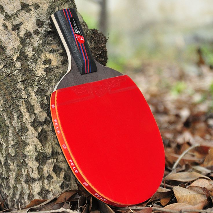 Profesional De Fibra De Carbono Raqueta de Tenis de Mesa Con Cuchilla de Doble Cara espinillas-in Raqueta de Ping-Pong De Goma Original Con la Bolsa