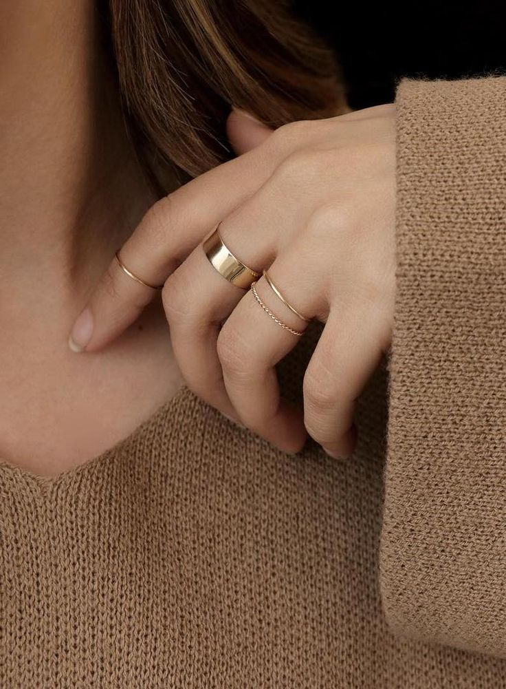 Minimal, but strong. Add the Thick Stacking Ring to your collection today.