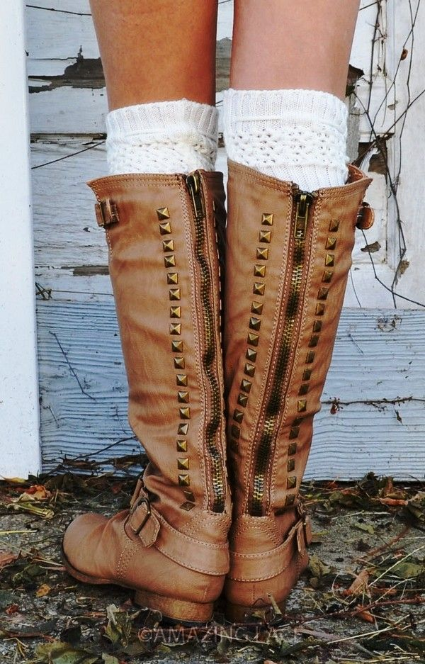 2013 Knee High Studded Riding Boots, Back Zipper Riding Boots #2013 #studded #riding #boots www.loveitsomuch.com