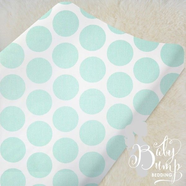 Mint and Gray Designer Created Crib Set - Gender Neutral Baby Bedding - Designer Created Crib Sets - Custom Changing Pad Cover Baby Bump Bedding www.babybumpbedding.com