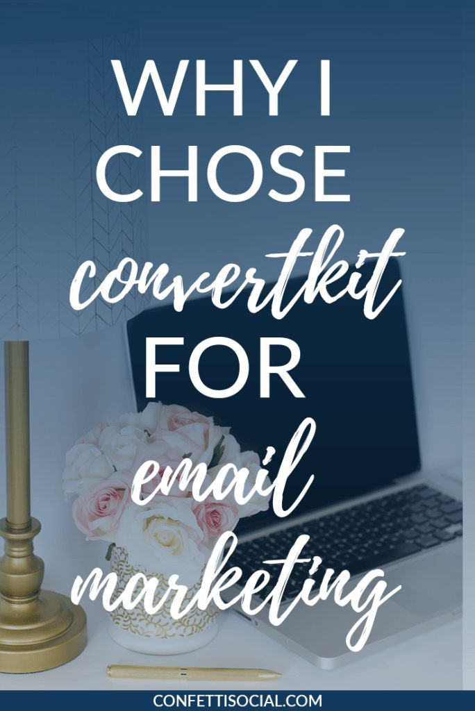 Find out why I chose ConvertKit for my email service provider + it's awesome benefits. // Confetti Social