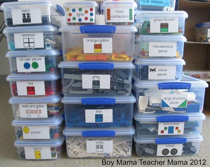 Lego Organization System Stickers (Updated)