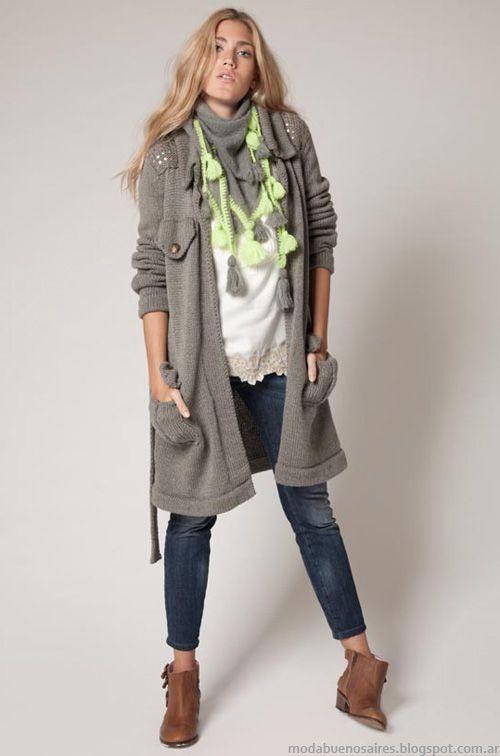 Agostina BIanchi moda invierno 2013 tejidos