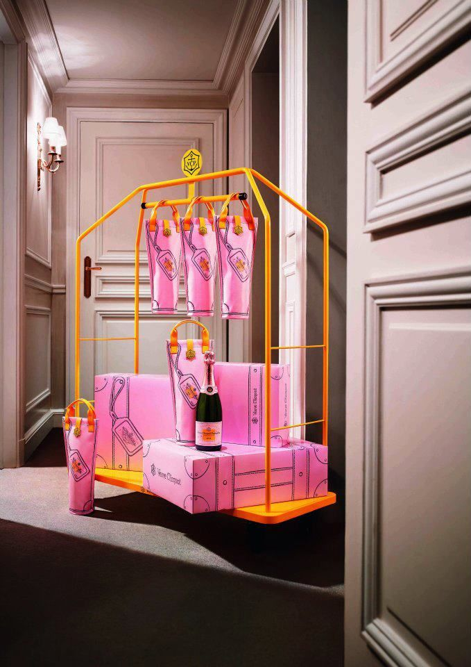 """""""I travel light...Veuve Clicquot Rosé."""" If Champagne is great wine, rosé Champagne is sent directly from the heavens. With free shipping."""