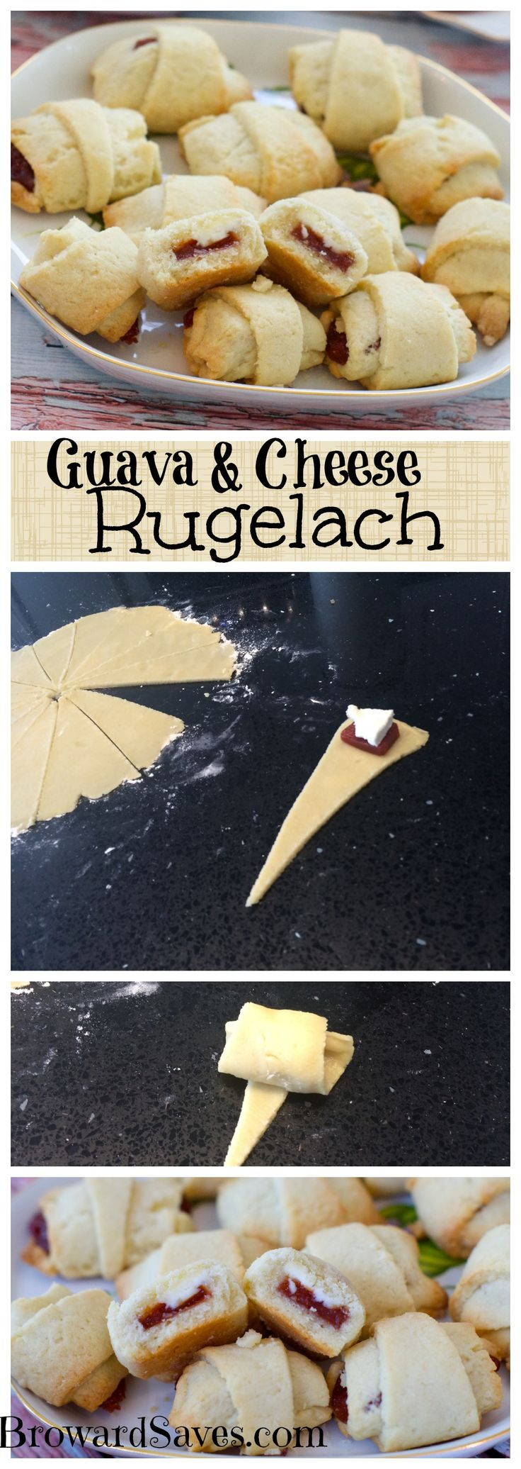 Delicious And Easy To Make Guava & Cream Cheese Rugelach! A Hit With Kids  And