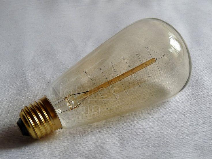 Cute  10 Edison Light Bulbs Comparative  #Antique #Design #Edison #Glass #Huge #Industrial #LED #LightBulb #Metal #Retro #Steampunk #Steel #Vintage  1 - Antique Vintage style Edison Light bulbs E 27 40w 60w 110v 220v T64    Vintage style incandescent lamp light historically accurate, beautifu...