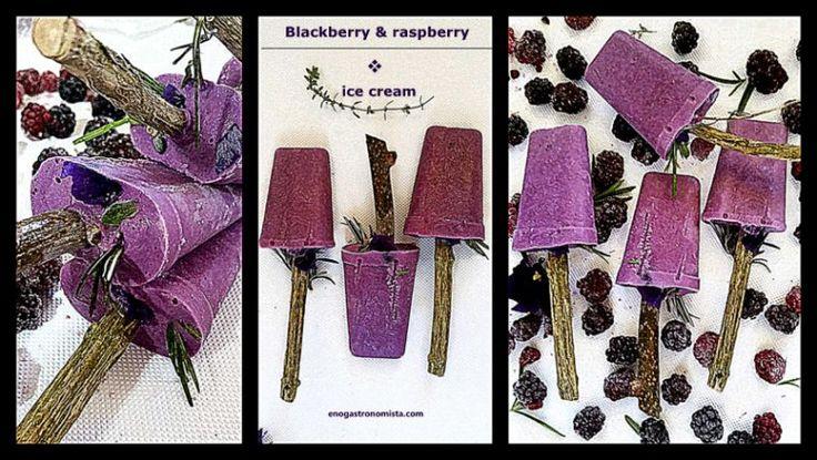 Blackberry , raspberry ice cream