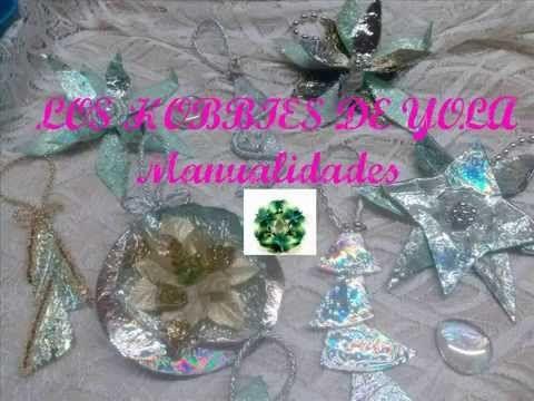 Adornos navideños con CD's / Christmas ornaments out of CD's