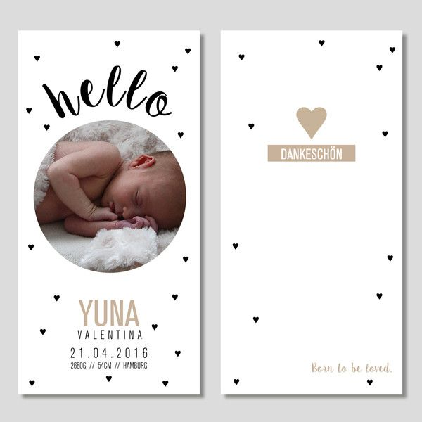 Baby- & Geburtskarten - Geburtskarten Dankeskarten zur Geburt Individualie - ein Designerstück von soltunpeper bei DaWanda