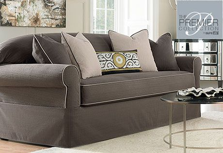 Sure Fit Slipcovers Premier Bahama Separate Seat Sofa Slipcovers