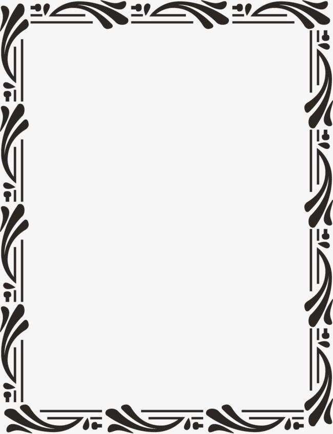 Black Border Black Vector Border Vector Tabular Frame Material Png Transparent Clipart Image And Psd File For Free Download Ornate Frame Monochrome Clipart Images
