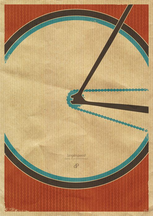 Singlespeed - retro bike poster by Dirk Petzold Illustrations