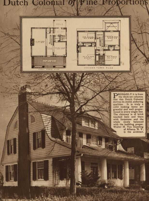 Pin By Nicole Kirschmann On Retro House Plans Small House Architects Home Building Design Dutch Colonial