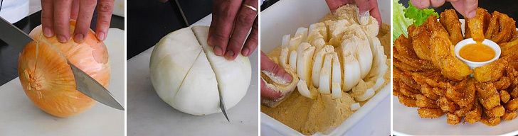 Prepare an awesome apetizer out of one, big onion.