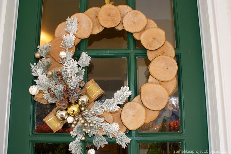 Some Like A Project: Winter Wood Slice Wreath