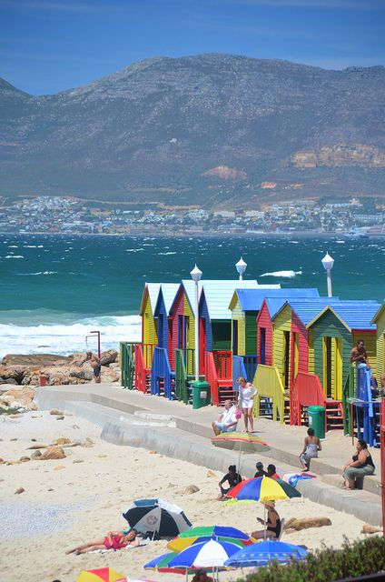 Bathing Boxes, St. James, S. Africa by Robert Schrader