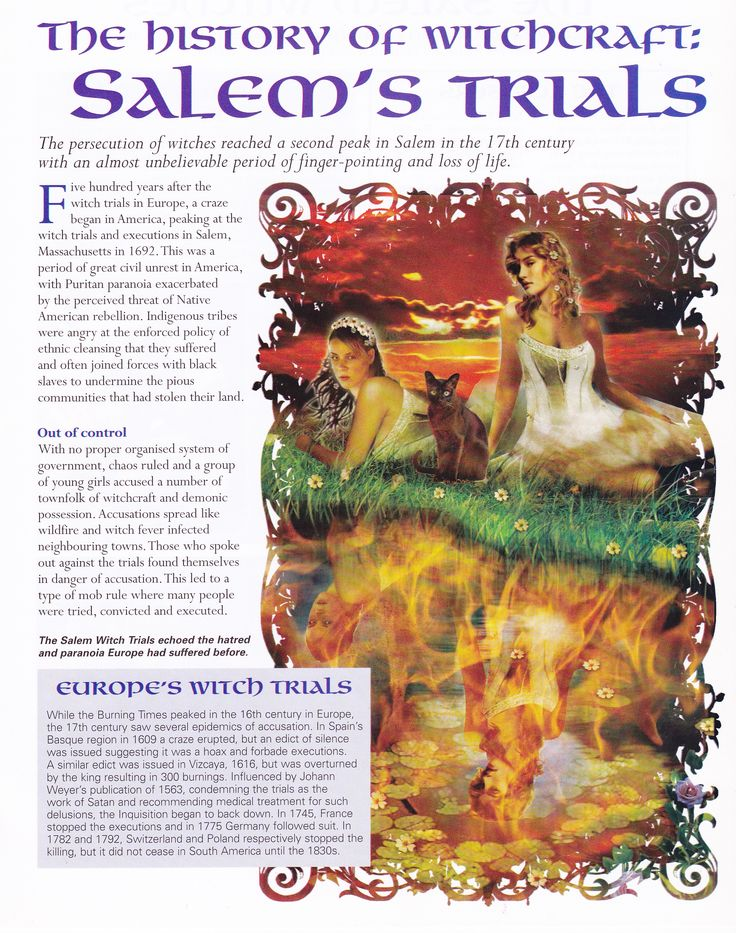 the results of unfair trials and accusations based on rumors from the salem witch trials era to the  Find out more about the history of salem witch trials, including videos, interesting articles, pictures, historical features and more get all the facts on historycom.