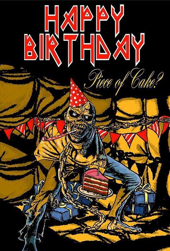 Pin De Xenia En Rock Pinterest Iron Maiden Happy Birthday Y