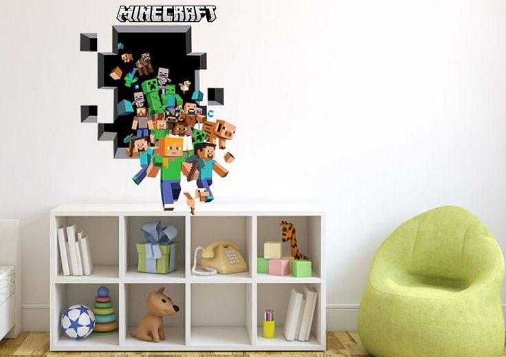 Minecraft gänget väggdekal/väggdekor