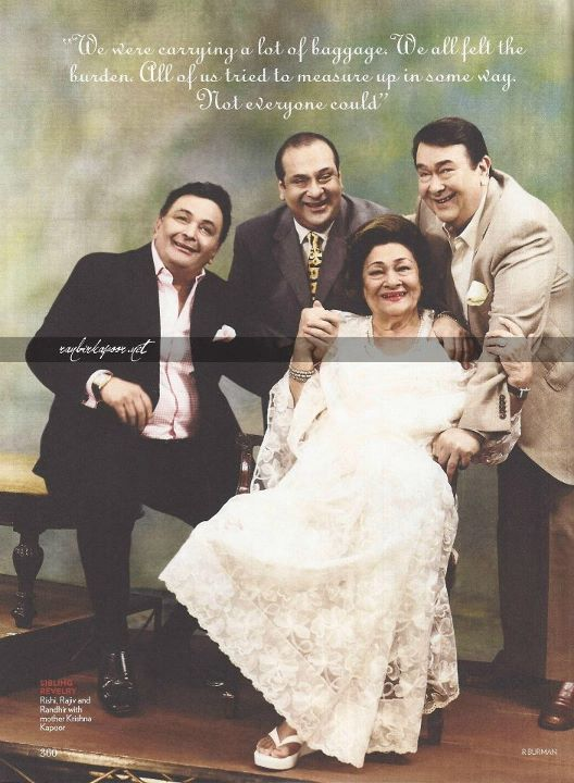 Vogue India October 2011 | Rishi Kapoor, Rajiv Kapoor, Randhir Kapoor and their mother Krishna Raj Kapoor