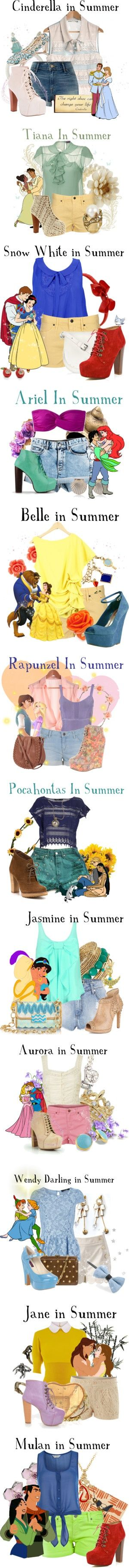 """""""Disney Summer Collection"""" by agust20 ❤ liked on Polyvore"""