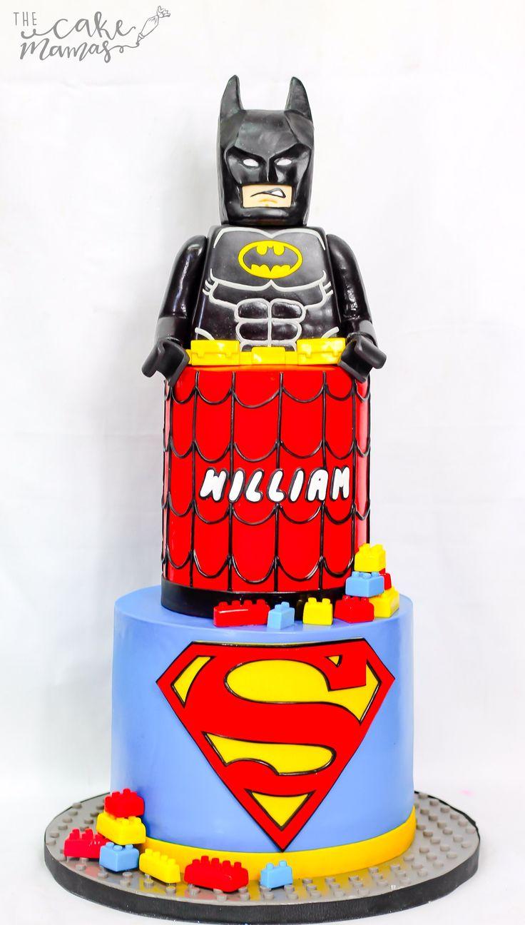 Lego Batman and Superman birthday cake by Sabrina Jurado on satinice.com!