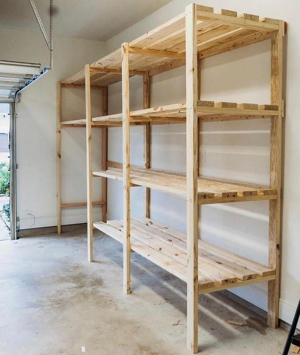 43 Amazing Diy Garage Storage And Decoration Ideas For You To Try Asap In 2020 Garage Shelving Diy Storage Shelves Garage Organization Diy