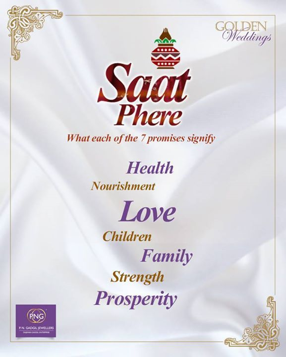 Saptapadi Means Seven Steps In Each Of The Saat Pheras Or Vows Hindu Bride And Groom Make 7 Promises To Other