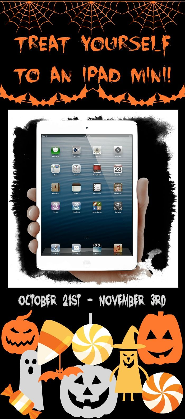 Treat yourself to an iPad Mini! Come enter to win- it's easy! #giveaway