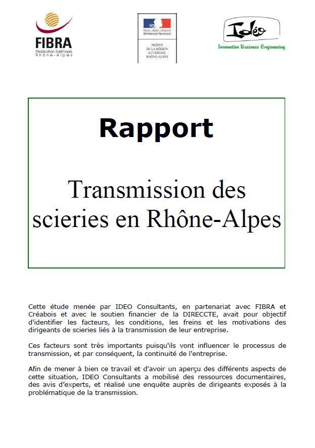 Rhône-Alpes : Une étude sur la transmission des scieries http://netbois.com/info/article-3748.htm