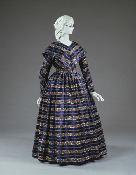 1843-1845, America - Afternoon dress and capelet - Wool