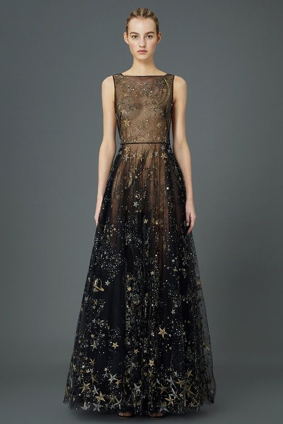 Valentino's Space Inspired Pre-Fall 2015 Collection | gorgeous moon and stars collection. not really in my current aesthetic, but wow, this dress. If only I had somewhere to wear it.