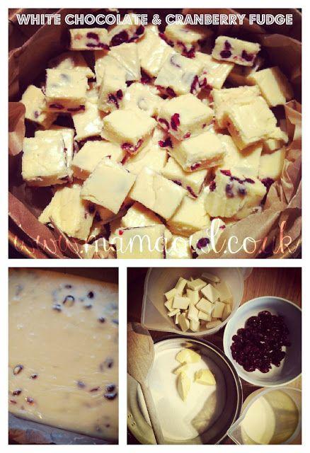 White chocolate and cranberry fudge!