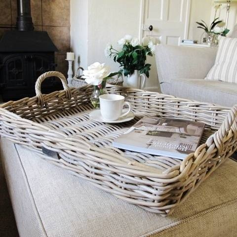 Large Rattan Serving Tray Bliss And Bloom Baskets Pinterest Trays Serving Trays And Rattan