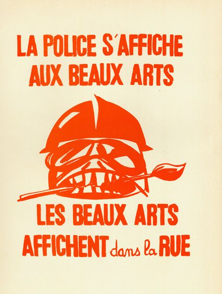 A silkscreen poster by Atelier Populaire (the Popular Workshop), from the Paris student uprisings of May 1968.