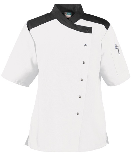 Women's Snap Front Chef Coat - also comes in blue!