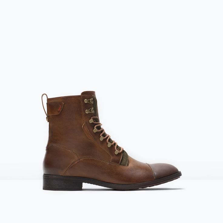 LACE-UP WORK BOOT from Zara - 79.90 USD