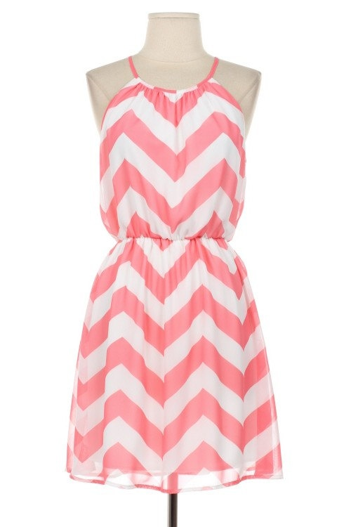 Mint Chervon Dress short  Dress Colorblock Chevron Soft and Silky Dress