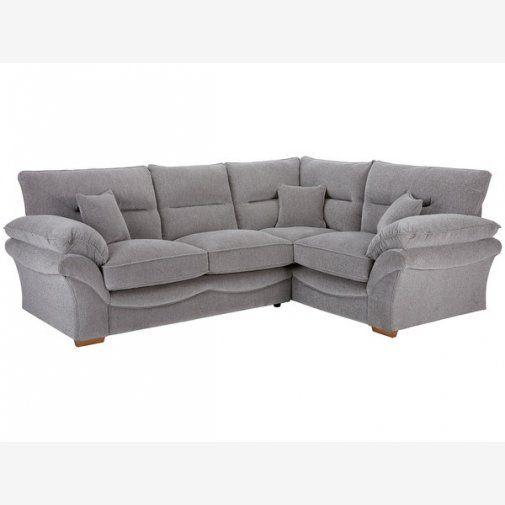 Chloe Corner Right Hand High Back Sofa in Logan Fabric - Silver