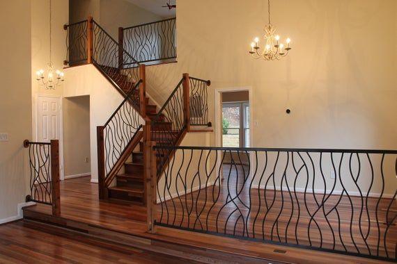 Bent Iron Art Interior Railing Balustradă Scări Poartă | 2 Inch Round Wood Handrail | Stair Parts | Outside Diameter | Stair Treads | Handrail Brackets | Oak Wood