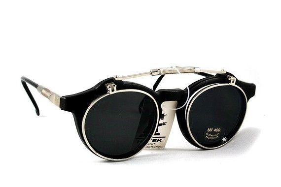 Steampunk Gothic flip up Sunglasses Hi Tek London door hitekdesigns