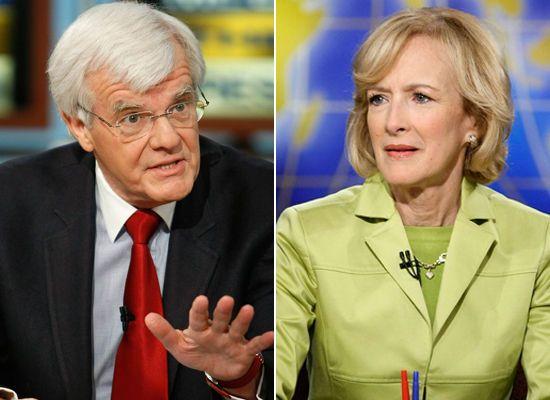 Media Power Couples  Al Hunt & Judy Woodruff